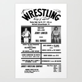 #6 Memphis Wrestling Window Card Art Print