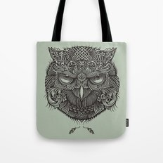 Warrior Owl Face Tote Bag