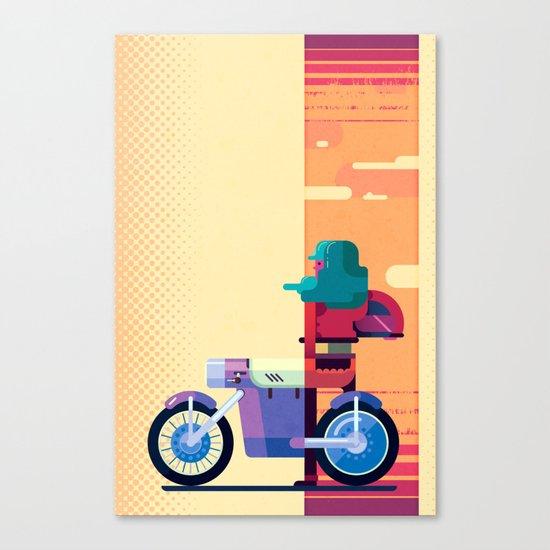 Sunset Biker Canvas Print