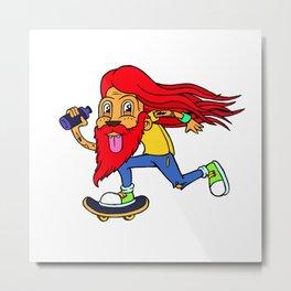 Skate Lad Metal Print