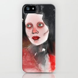 A Touch of Red (study) iPhone Case