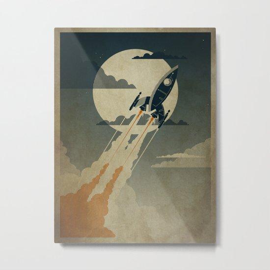 Night Launch Metal Print
