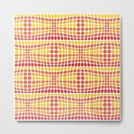 Dottywave - Orange Yellow wave dots pattern Metal Print