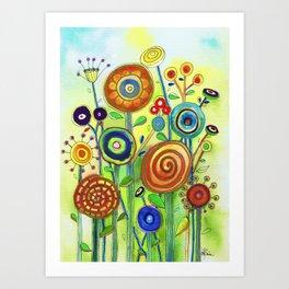 Lollipop Garden Art Print