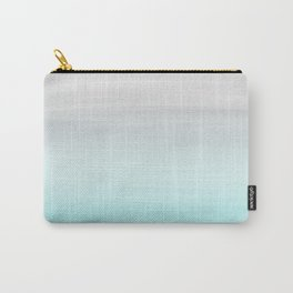 Touching Aqua Blue Gray Watercolor Abstract #1 #painting #decor #art #society6 Carry-All Pouch