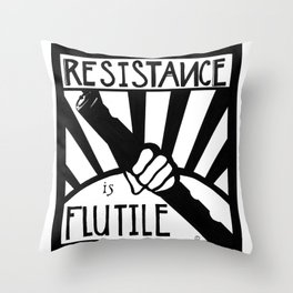 Resistance is Flutile Throw Pillow