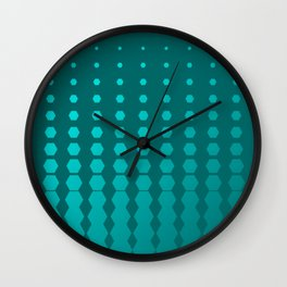 Hexagon AM Pattern Wall Clock