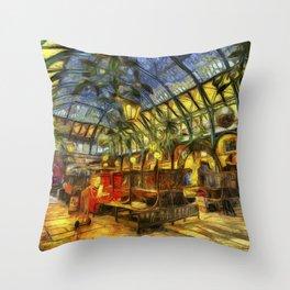 Covent Garden Van Gogh Throw Pillow