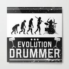Evolution Drummer   Drums Musician Metal Print