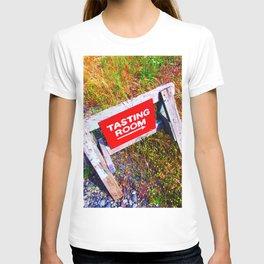 Tasting Room Sign At Ani Che Cellars T-shirt