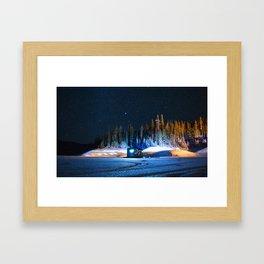 the fishing hut Framed Art Print