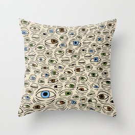 Seek (multi-colored) Throw Pillow