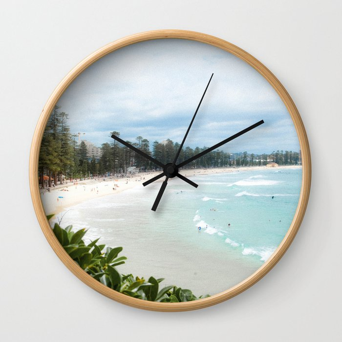 Manly Beach, Australia Wall Clock