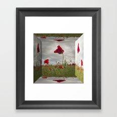 Mirrored Poppies Framed Art Print