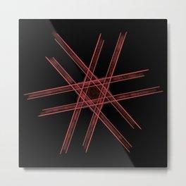 Red lines crossing Metal Print