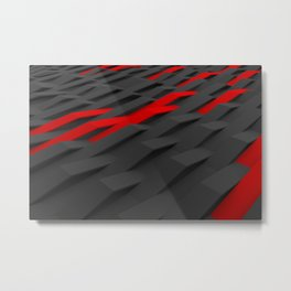 Black and red plastic waves Metal Print