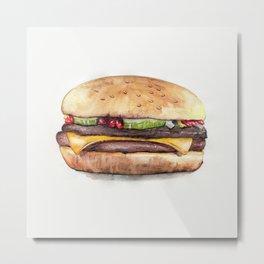 Color pencil Hamburger Metal Print