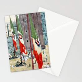 Childe Hassam Piazza di San Marco Stationery Cards