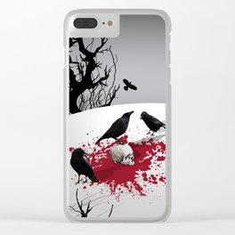 Murder Detail Clear iPhone Case