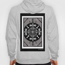 Grey, Black and White Chess Mandala Queens Hoody