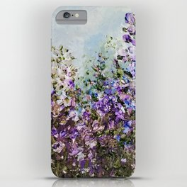 Floral Garden Impressionism in Pretty Purple iPhone Case