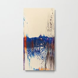 Pour Art Rainbow Water Metal Print