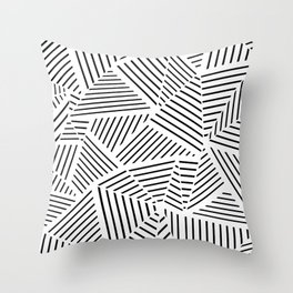 Ab Linear Zoom W Throw Pillow