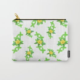 Airy Floral Pattern Carry-All Pouch
