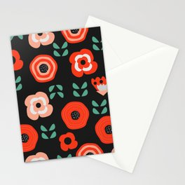 Midnight floral decor Stationery Cards