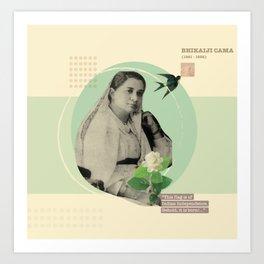 Female Freedom Fighters - Madame Cama  Art Print