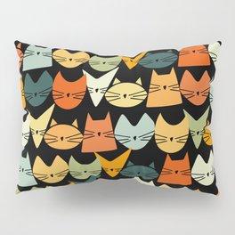 Jelly Cats Hand Drawn Vintage Dark Pillow Sham