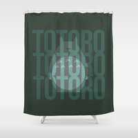 ponyo Shower Curtains featuring Earth Spirit by Sierra Wheeler