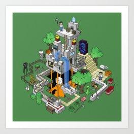 Mine City Art Print