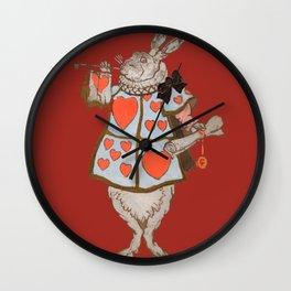 Alice's White Rabbit - Fine Art Print Wall Clock
