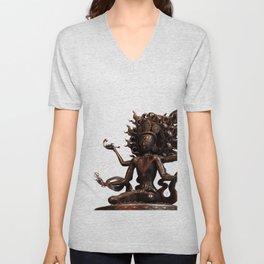 Tibetan Buddha 2 Unisex V-Neck