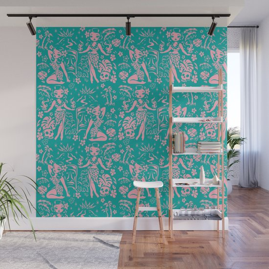 Tiki Temptress in Pink and Turquoise by fluffshop