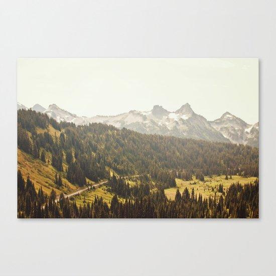 Road through the Mountains Canvas Print
