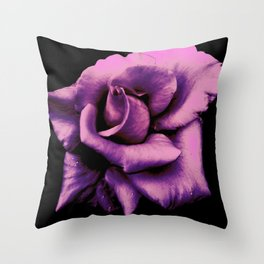 Lavender Rose Throw Pillow