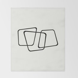 Simply Minimal - Black and white abstract Throw Blanket