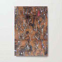 Paris keys Metal Print