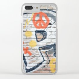 Peace Street Clear iPhone Case