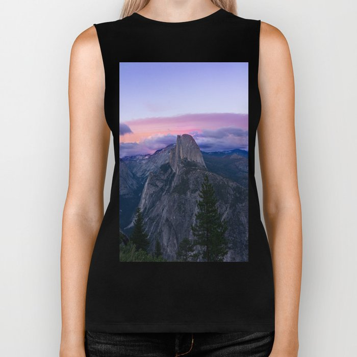 Yosemite National Park at Sunset Biker Tank