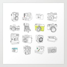 My Camera Collection Art Print