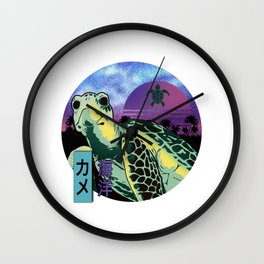 Cool Turtle Island Sunset Wall Clock
