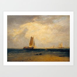 Fishing upon the Blythe-Sand, Tide Setting In Art Print