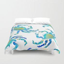 Craggy Blue Crab Duvet Cover