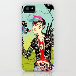 Cyber Punk Girl iPhone Case