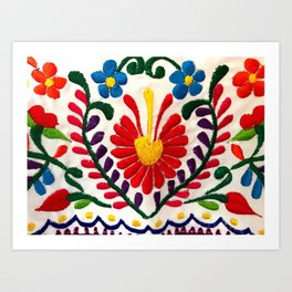 Red Mexican Flower Art Print