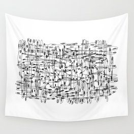 wires, nodes Wall Tapestry