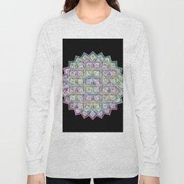 1 Billion Dollars Geometric Black Bling Cash Money Long Sleeve T-shirt